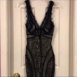 BEBE black lace mini dress